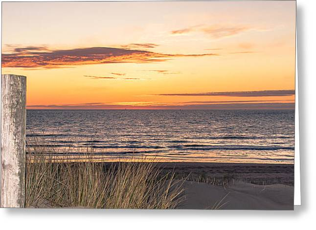 Easter Beach Light Greeting Card by Alex Hiemstra