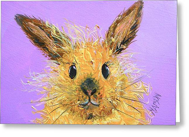 Country Cottage Greeting Cards - Easter Bunny  Painting - Poppy Greeting Card by Jan Matson