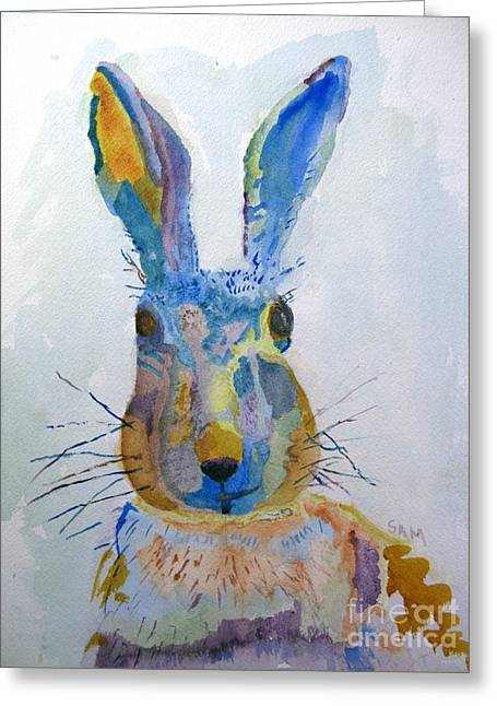 Easter Bunny Greeting Card by Sandy McIntire
