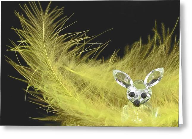 Adorable Bunny Greeting Cards - Easter Bunny Greeting Card by Svetlana Sewell