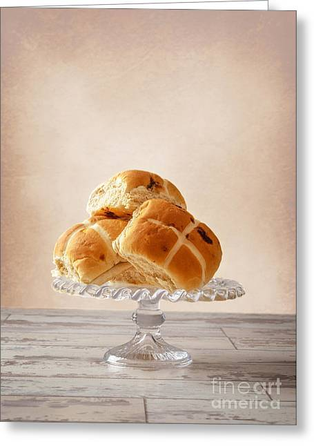 Bun Photographs Greeting Cards - Easter Buns Greeting Card by Amanda And Christopher Elwell