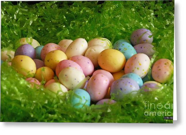 Easter Greeting Cards - Easter Egg Nest Greeting Card by Methune Hively