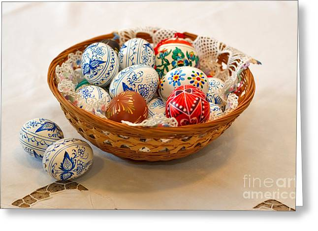 Easter Eggs Greeting Card by Louise Heusinkveld