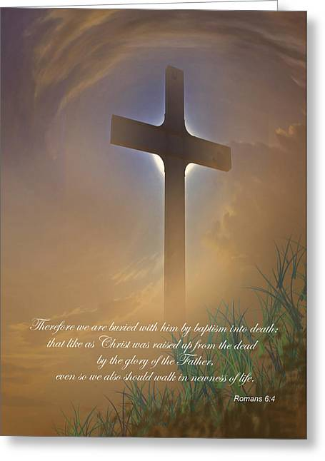 Forgiveness Photographs Greeting Cards - Easter Message Greeting Card by David and Carol Kelly