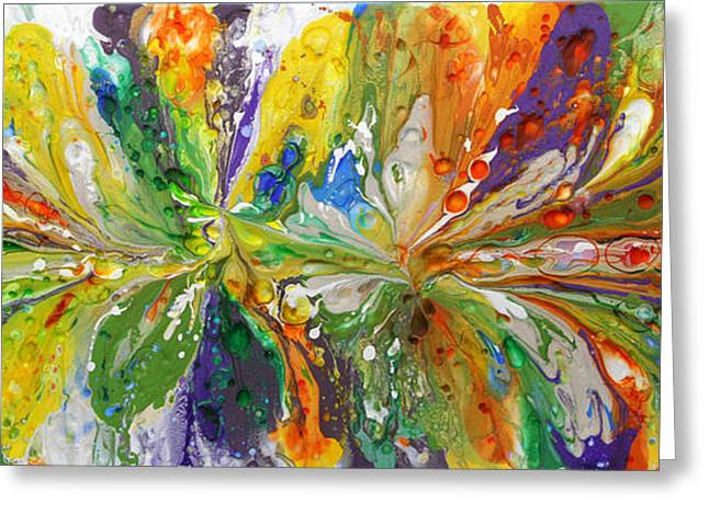 Abstractions Greeting Cards - Easter Parade Greeting Card by John Pugh