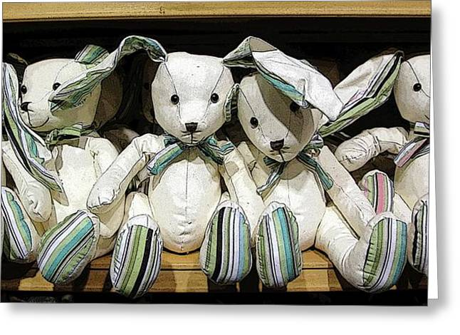 Rabbit Digital Greeting Cards - Easterganger Greeting Card by Ron Bissett