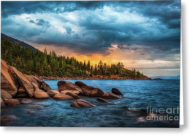 Storming Greeting Cards - Eastern Glow at Sunset Greeting Card by Anthony Bonafede