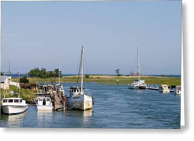 Eastern Shore Greeting Cards - Eastern Shore Water Way Tilghman Island Maryland Greeting Card by Brendan Reals