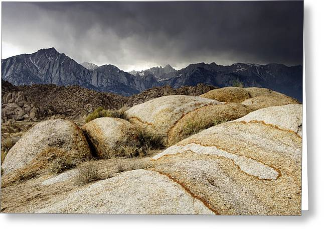 Mount Whitney Greeting Cards - Eastern Sierra Storm Greeting Card by Eric Foltz