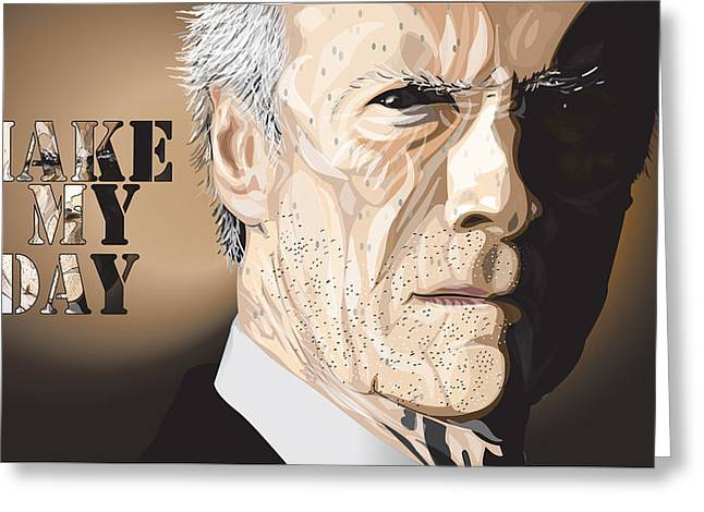 44 Magnum Greeting Cards - Eastwood Greeting Card by Mike  Haslam