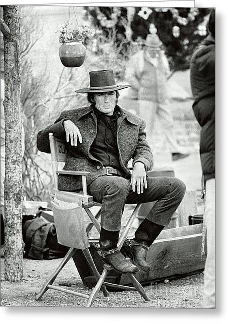 Eastwood On Set Greeting Card by Terry O'Neill