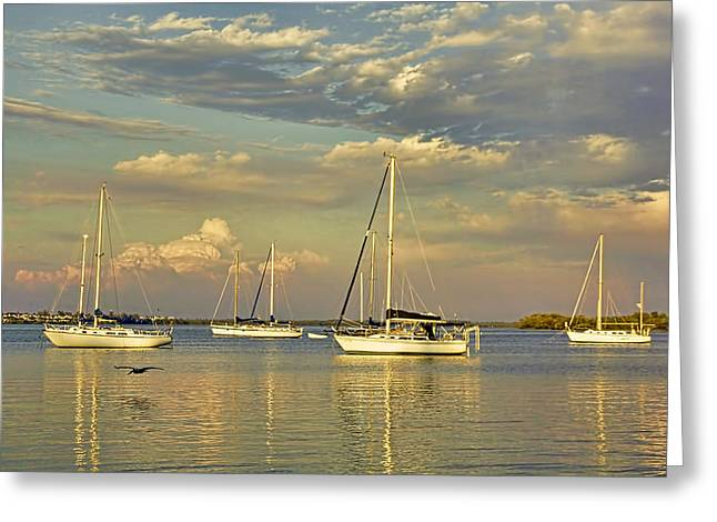 Sailboat Art Greeting Cards - Easy Livin Greeting Card by HH Photography