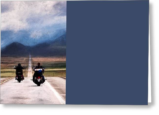 Mountain Road Greeting Cards - Easy Rider Greeting Card by Jim Hill