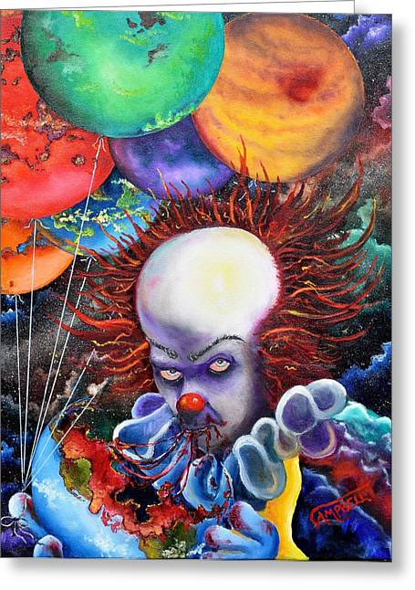 Pennywise Greeting Cards - Eater of Worlds Greeting Card by Terry Campbell