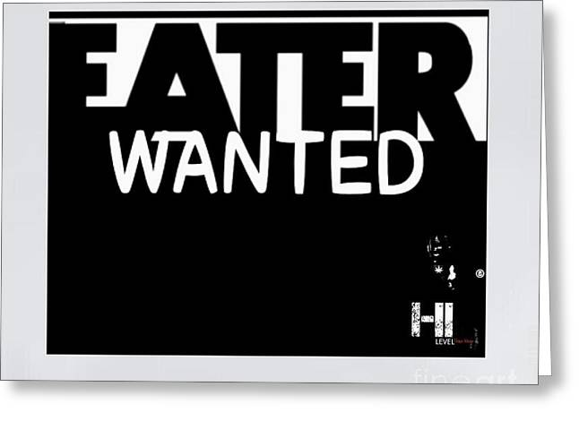 Miami Tapestries - Textiles Greeting Cards - Eater Wanted Greeting Card by HI Level
