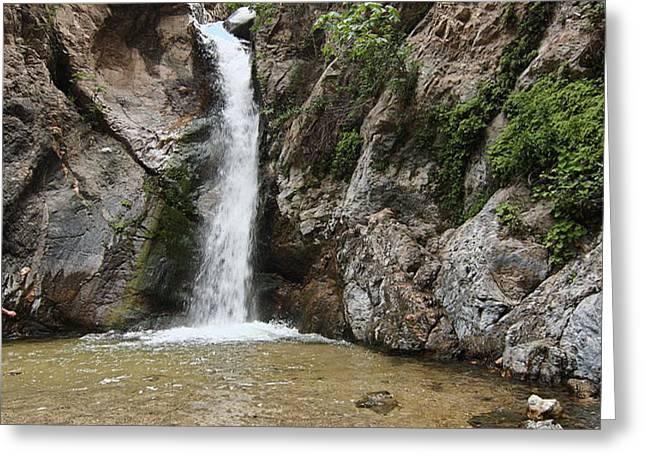 Eaton Canyon Waterfall Greeting Card by Viktor Savchenko