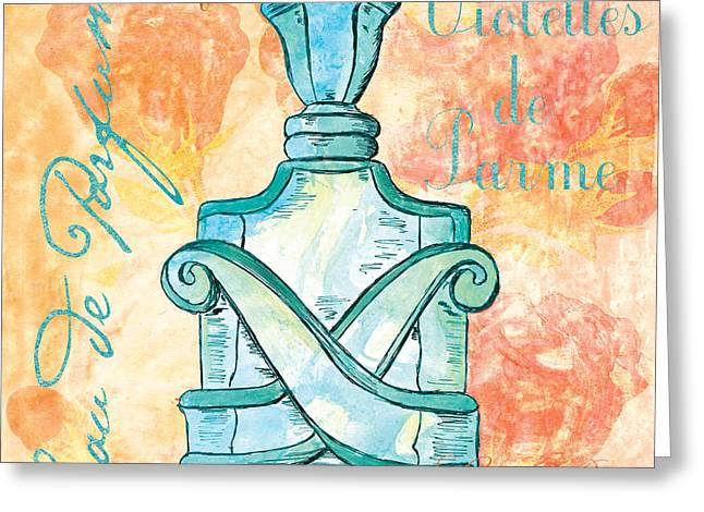 Powder Greeting Cards - Eau de Parfum Greeting Card by Debbie DeWitt