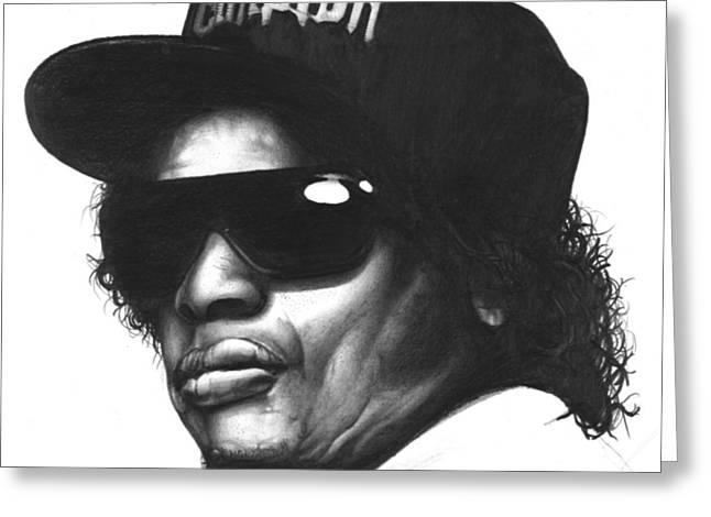 Hip Drawings Greeting Cards - Eazy-e Greeting Card by Lee Appleby