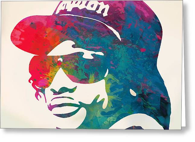 Eazy-e Pop  Stylised Pop Art Poster Greeting Card by Kim Wang