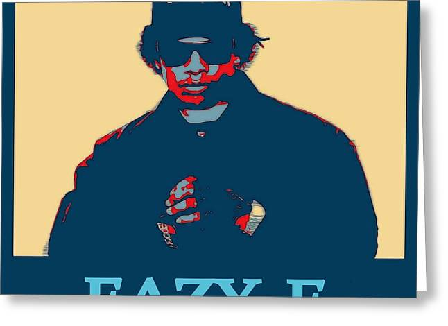Eazy E Poster Greeting Card by Dan Sproul