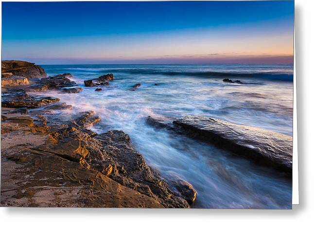 Ebb And Flow Greeting Card by Peter Tellone