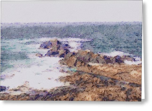 Tidal Photographs Greeting Cards - Ebb Tide Greeting Card by Susan Maxwell Schmidt