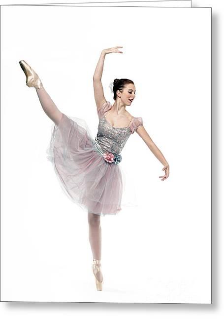 Ballet Dancers Greeting Cards - Ecarte - D009505 Greeting Card by Daniel Dempster