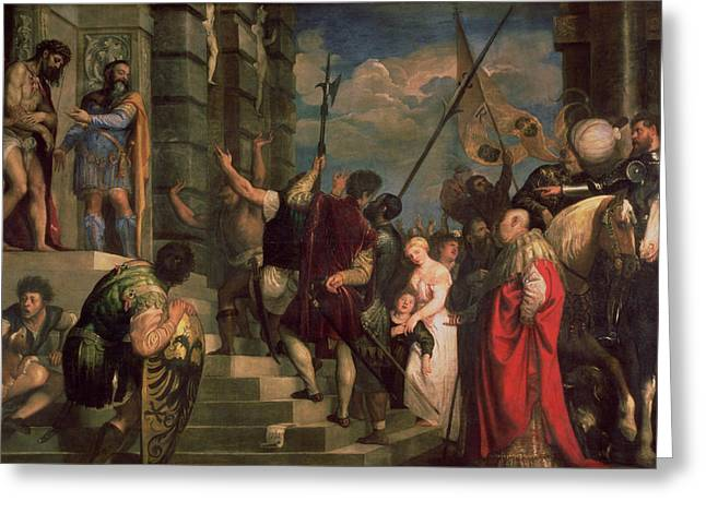 Ecce Homo, 1543 Greeting Card by Titian