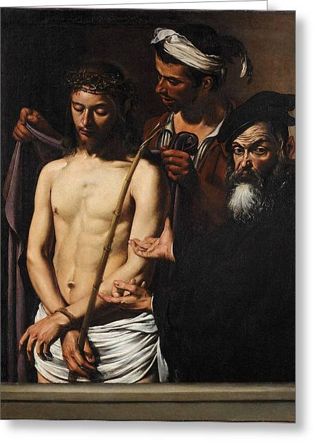 Ecce Paintings Greeting Cards - Ecce Homo Greeting Card by Caravaggio