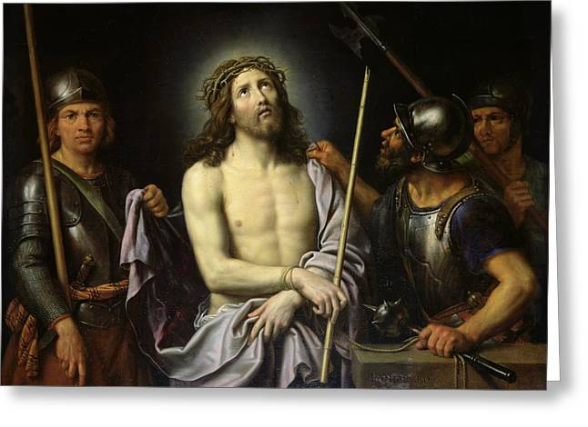 Up-armored Greeting Cards - Ecce Homo  Greeting Card by Pierre Mignard