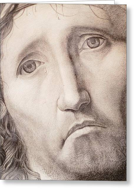 Ecce Homo Greeting Card by Roland Pangrati