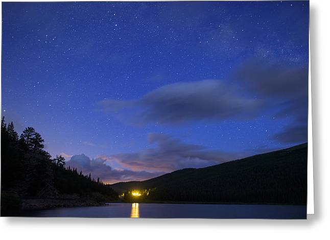 Colorado Mountains Greeting Cards - Echo Lake Nightscape Greeting Card by Noah Bryant