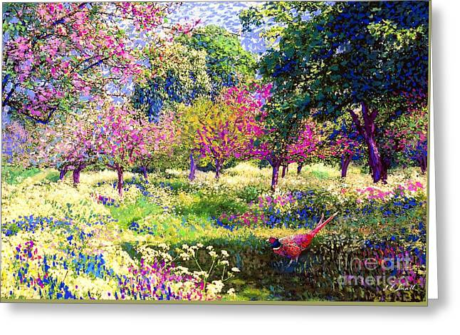 Plum Blossoms Greeting Cards - Echoes from Heaven Greeting Card by Jane Small