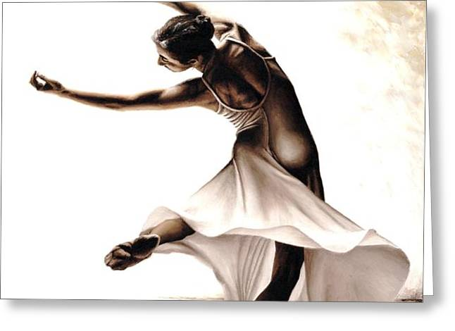 Eclectic Dancer Greeting Card by Richard Young