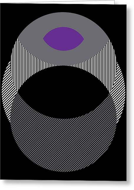 Geometric Design Greeting Cards - Eclipse Black Greeting Card by Marcio Pontes