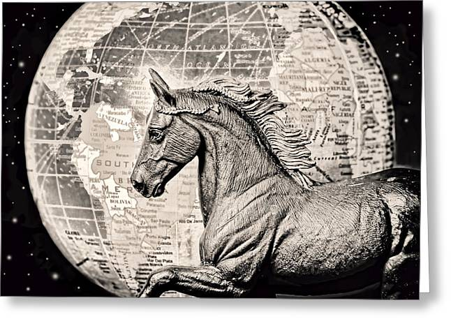 Contemporary Equine Greeting Cards - Eclipse Greeting Card by Jeff  Gettis