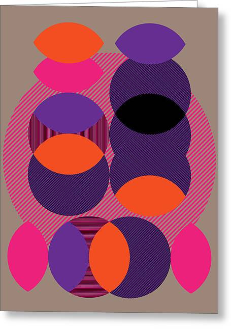 Geometric Design Greeting Cards - Eclipse Greeting Card by Marcio Pontes