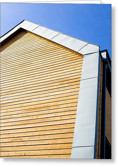 Wooden Building Greeting Cards - Eco building Greeting Card by Tom Gowanlock