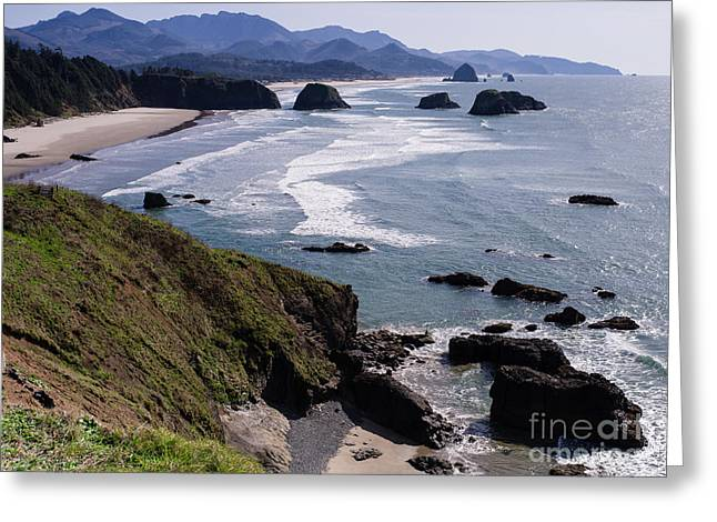 Ecola Point  Greeting Card by Tracy Knauer