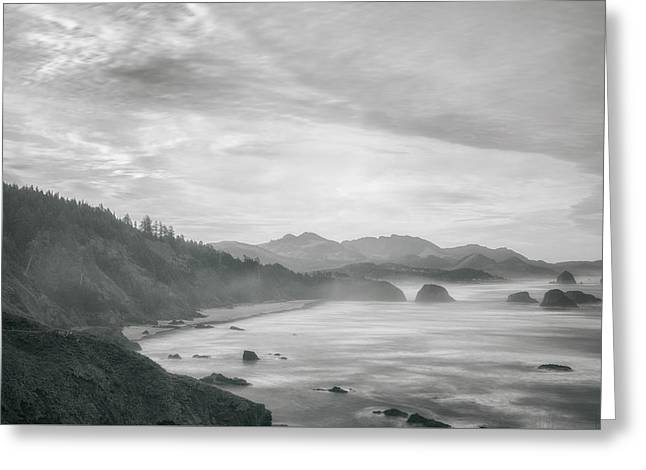 Ecola Point Greeting Card by Chad Tracy