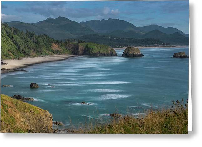 Ecola Point Greeting Card by Sepp Sonntag
