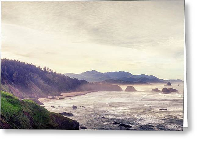 Ecola State Park Greeting Card by Chad Tracy