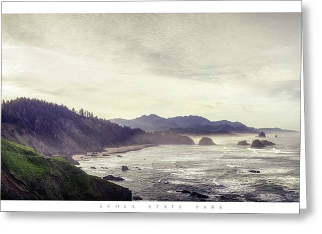 Ecola State Park Poster Greeting Card by Chad Tracy