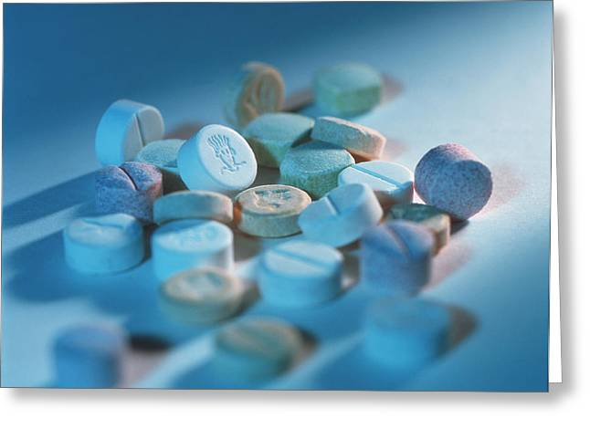 Recently Sold -  - Tablets Greeting Cards - Ecstasy Pills Greeting Card by Tek Image
