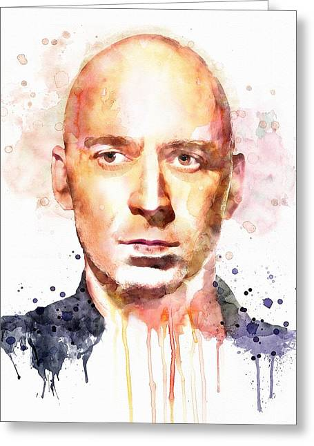 Pink Digital Greeting Cards - Ed Kowalczyk Greeting Card by Marian Voicu