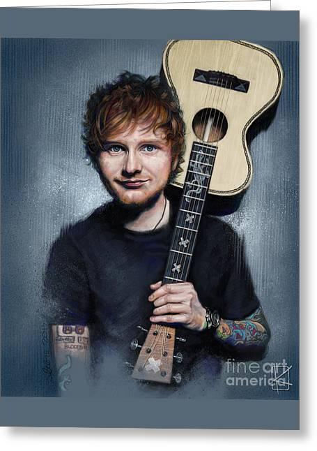 Ed Sheeran Greeting Card by Andre Koekemoer