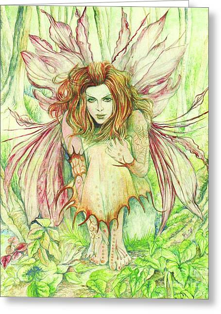 Fantasy Greeting Cards - Edana The Fairy Collection Greeting Card by Morgan Fitzsimons