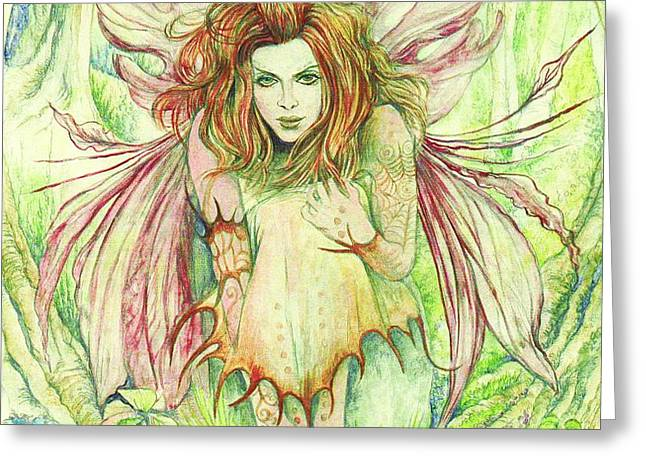 Edana The Fairy Collection Greeting Card by Morgan Fitzsimons