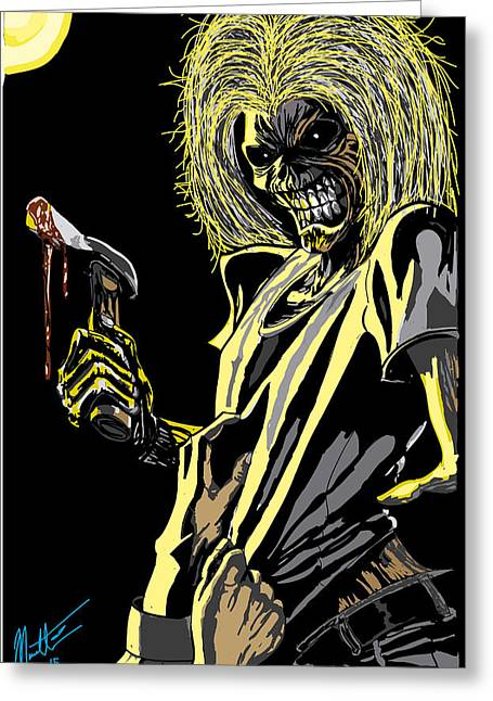 Iron Maiden Greeting Cards - Eddie Greeting Card by Robert Massetti
