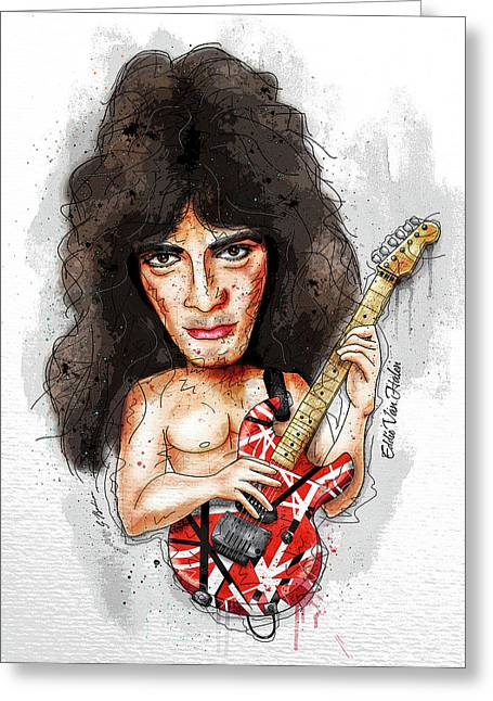 Eddie Van Halen Greeting Card by Gary Bodnar